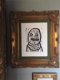 Crude Terror framed at Stuart's