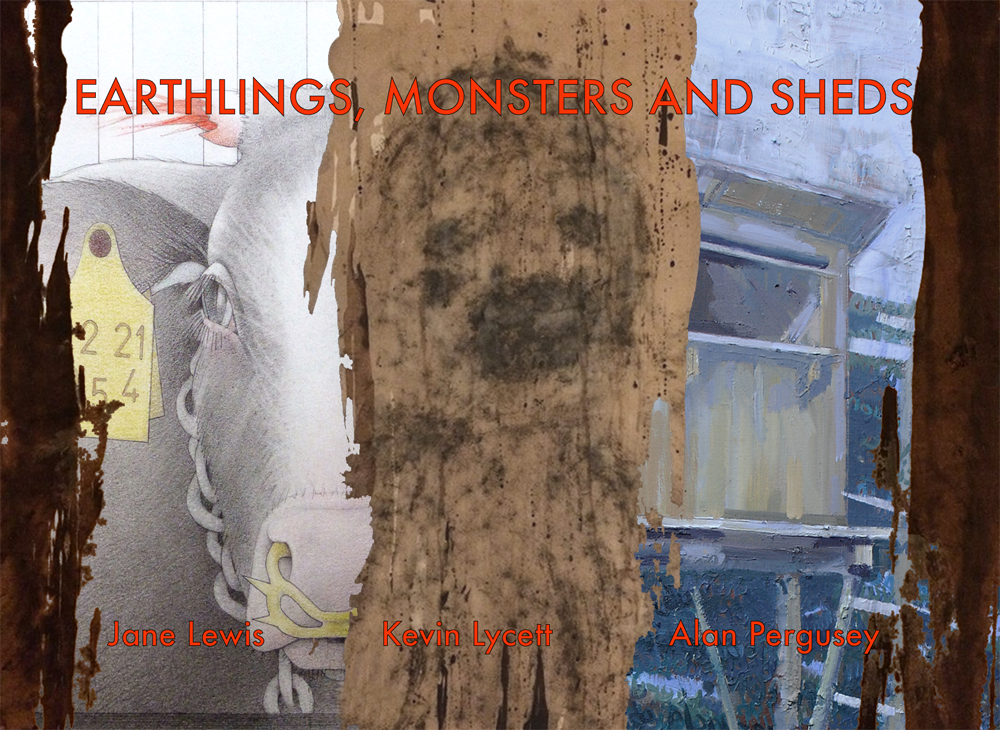 Earthlings Monsters and Sheds exhibition invite